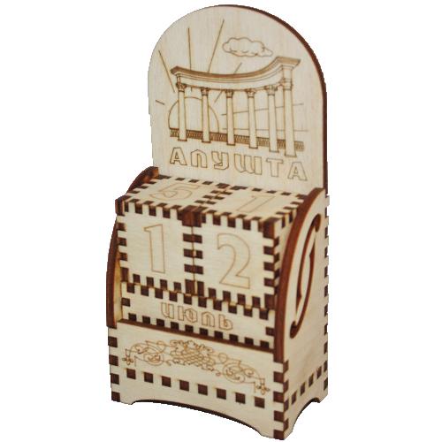 Деревянный календарь Алушта