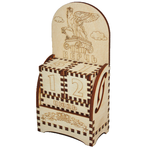 Деревянный календарь Керчь