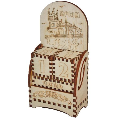 Деревянный календарь Крым