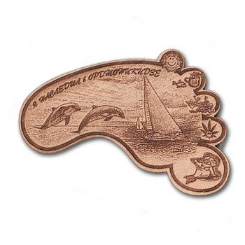 Деревянный магнит лапа Орджоникидзе