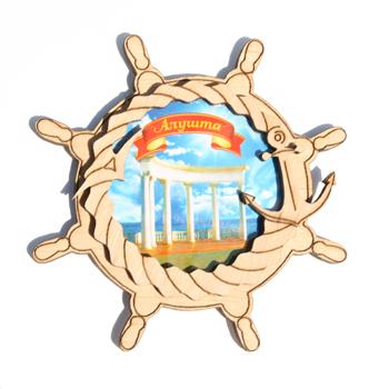 Деревянный магнит Многослойный цветной Алушта