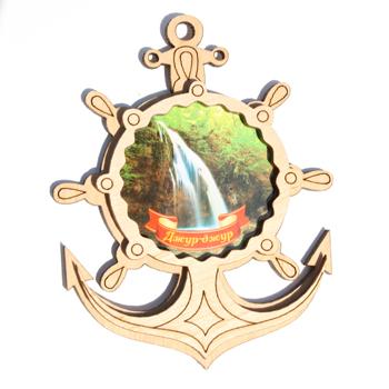 Деревянный магнит Многослойный цветной Джур-Жур