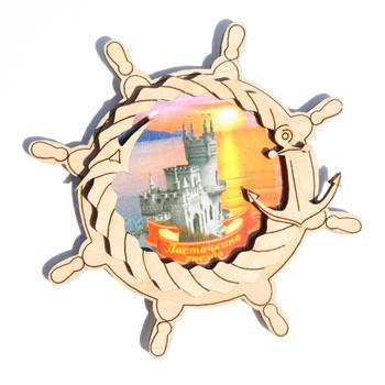 Деревянный магнит Многослойный цветной Ласточкино Гнездо