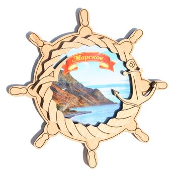 Деревянный магнит Многослойный цветной Морское