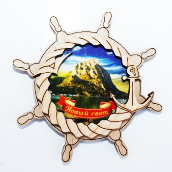 Деревянный магнит Многослойный цветной Новый Свет