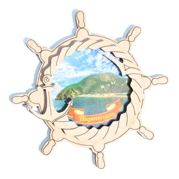 Деревянный магнит Многослойный цветной Партенит