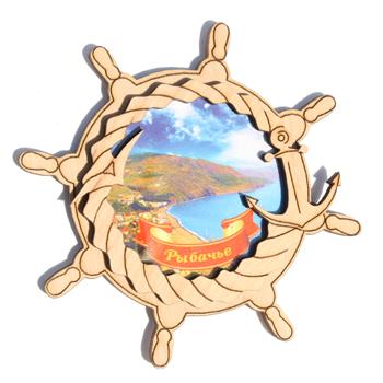 Деревянный магнит Многослойный цветной Рыбачье