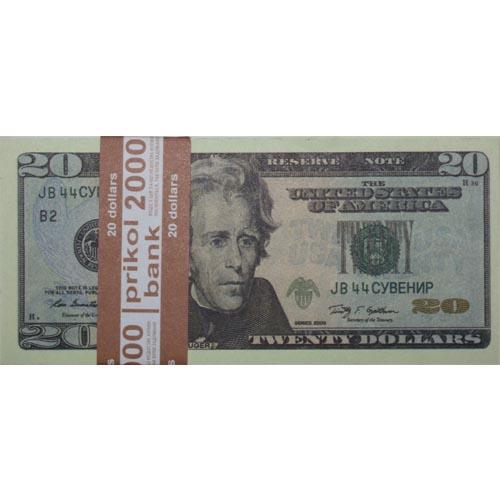 Сувенирные деньги 20 долларов