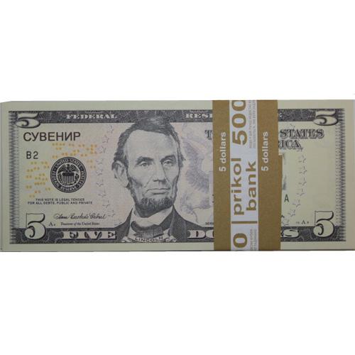 Сувенирные деньги 5 долларов