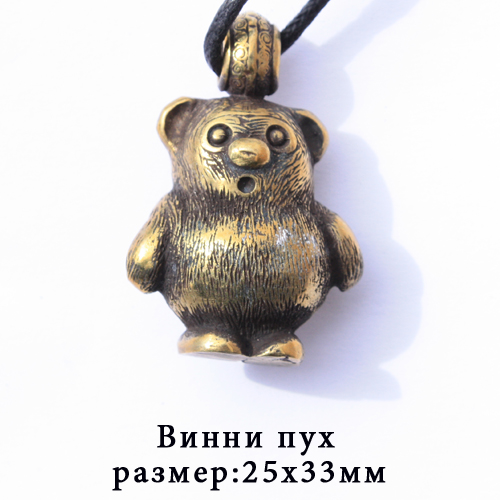 Бронза медальон Винни Пух