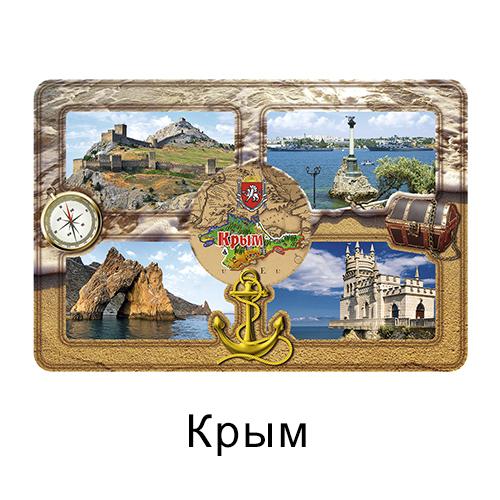 Деревянный магнит окошки цвет Крым