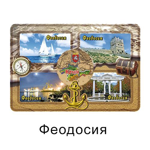 Деревянный магнит окошки цвет Феодосия