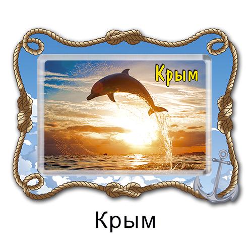 Деревянный магнит с акрилом Крым
