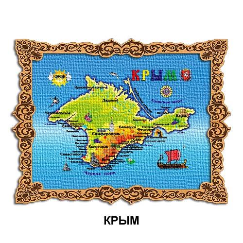 Деревянный магнит холст Крым