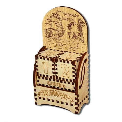 Деревянный календарь Черное море