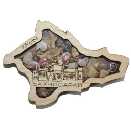 Деревянный магнит Многослойный Ракушка Бахчисарай