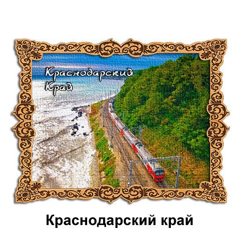 Деревянный магнит холст Краснодарский край