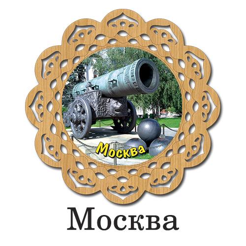 Деревянная Тарелка Цветная Москва 8см