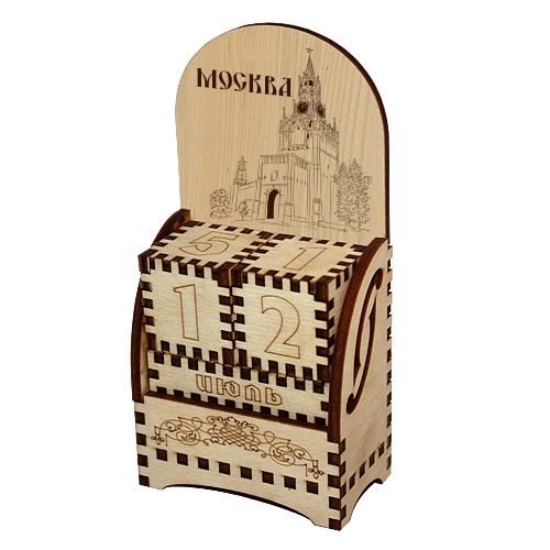 Деревянный календарь Москва