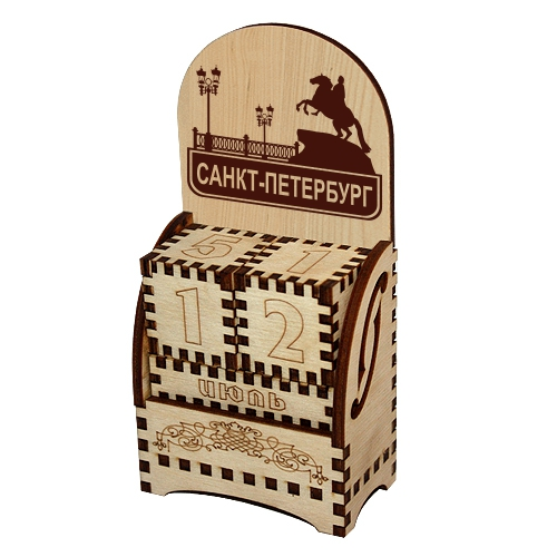 Деревянный календарь Санкт-Петербург рус