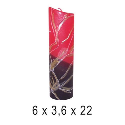 Свеча интерьерная Овал  6*3, 6*22 см