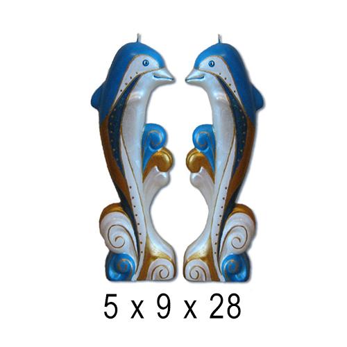 Морские свечи Дельфин 5*9*28 см