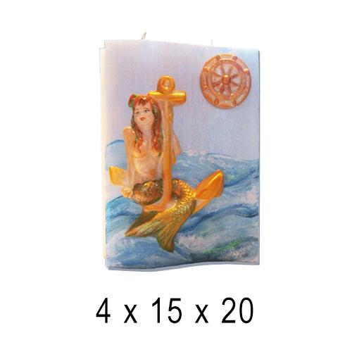 Морские свечи Книга с русалкой 4*15*20 см