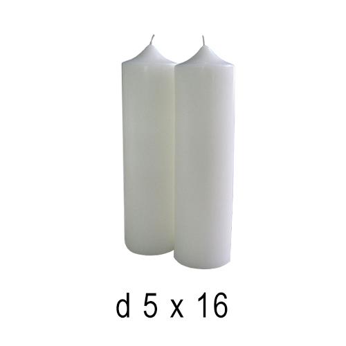 Белые свечи Часики средние 5*16 см