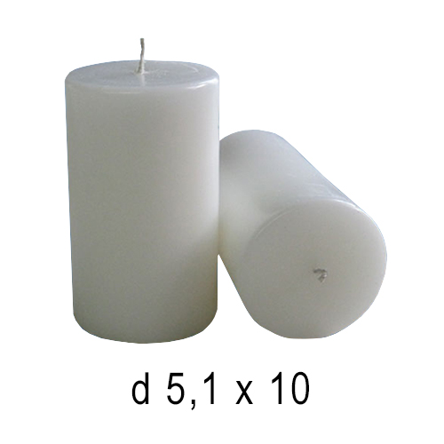 Белые свечи Бочка 5,1*10 см