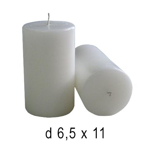 Белые свечи Бочка -2 6,5*11 см