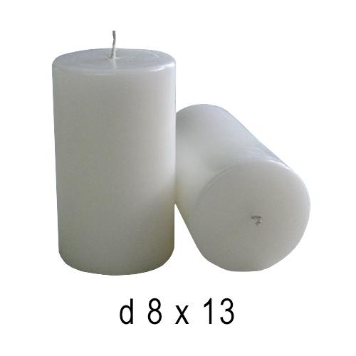 Белые свечи Бочка -4 8*13 см