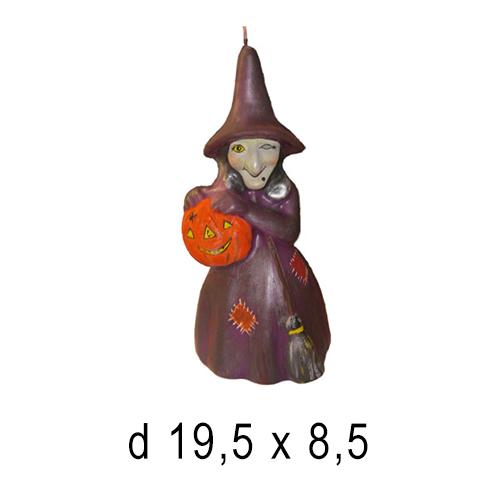 Хэллоуин  Свеча Баба Яга 19,5*8,5 см
