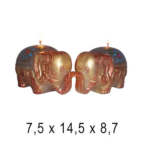 Животные свечи Слон 7,5*14,5*8,7 см