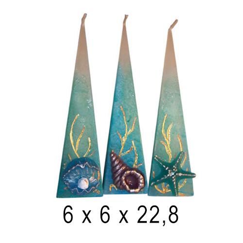 Морские свечи Лувр 6*6*22,8 см