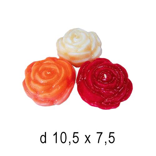 Плавающие цветы и свечи Роза 10,5*7,5 см