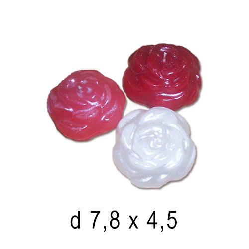 Плавающие цветы и свечи Роза средняя 7,8*4,5 см