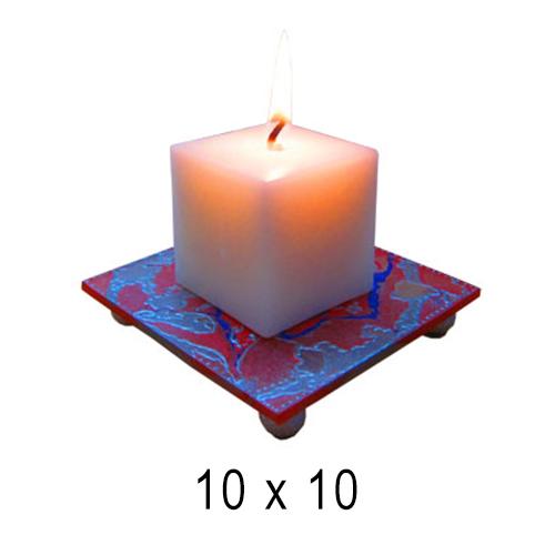 Подсвечники Квадрат мраморный 10*10 см