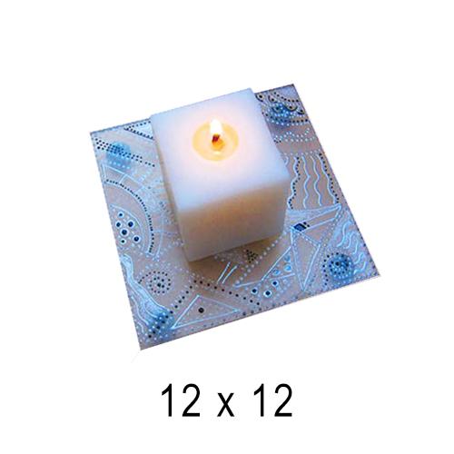 Подсвечники Квадрат с росписью 12*12 см