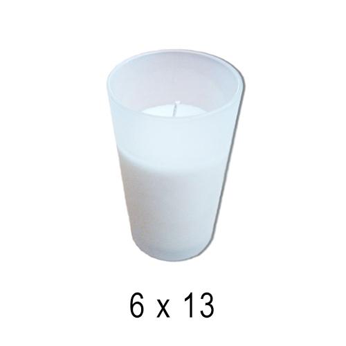 В стекле свечи  Стакан матовый со свечей 6*13 см