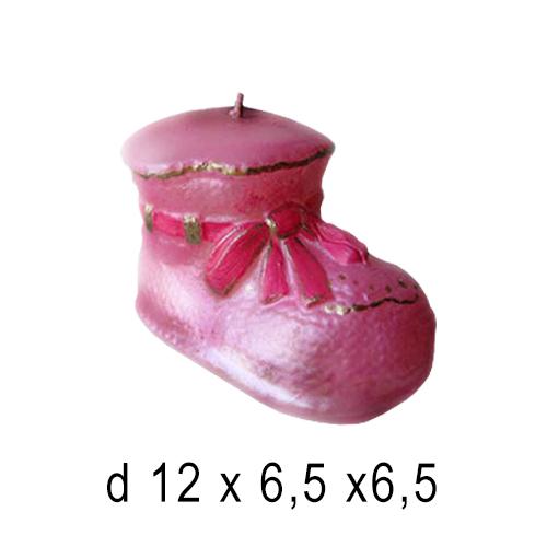 День Рождения и Юбелей  Свеча Детский башмачек 12*6,5*6,5 см