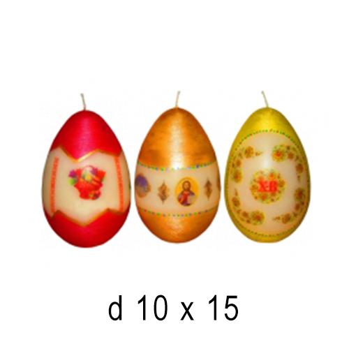 Пасхальные и Церковные свечи Пасхальное яйцо 10*15 см