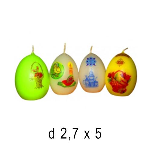 Пасхальные и Церковные свечи Яйцо маленькое 2,7*5 см