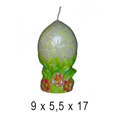 Пасхальные и Церковные свечи Яйцо праздничное 9*5,5*17 см