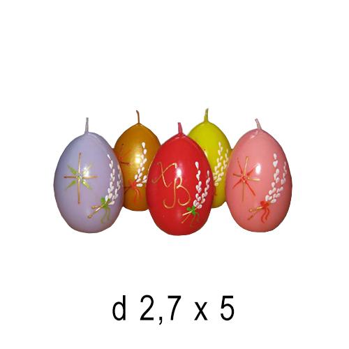 Пасхальные и Церковные свечи Пасхальное яйцо маленькое 2,7*5 см