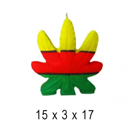 Фигурные и прикольные свечи  Каннабис 15*3*17 см