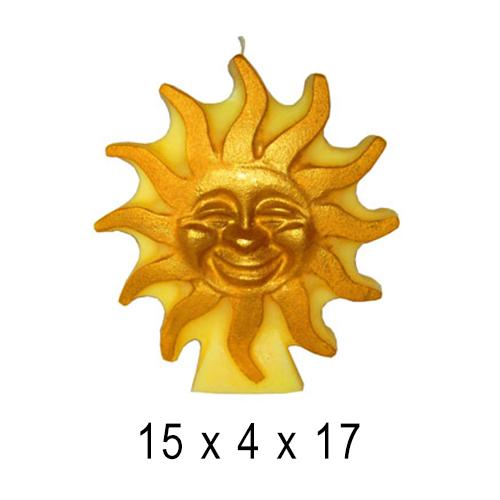 Фигурные и прикольные свечи  Солнце 15*4*17 см