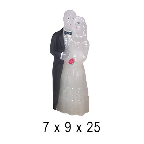 Свадебные свечи Молодожены 7*9*25 см