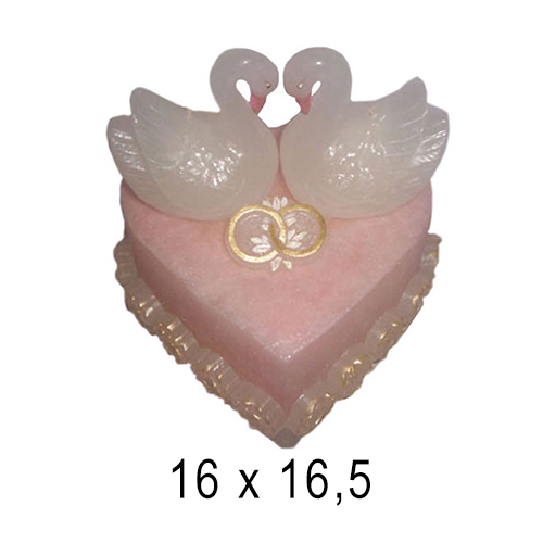 Свадебные свечи Торт с лебедями 16*16,5 см