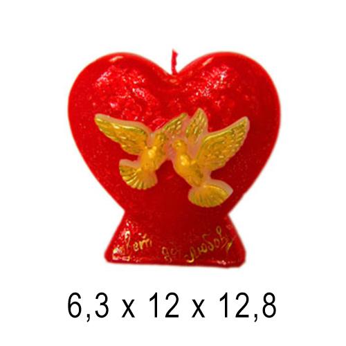 Свадебные свечи Сердце свадебное 6,3*12*12,12,8 см