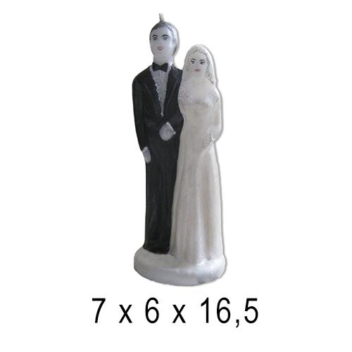 Свадебные свечи Свадебная пара 7*6*16,5 см